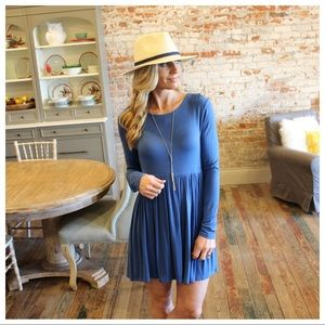 Lue Long Sleeve Baby Doll Dress